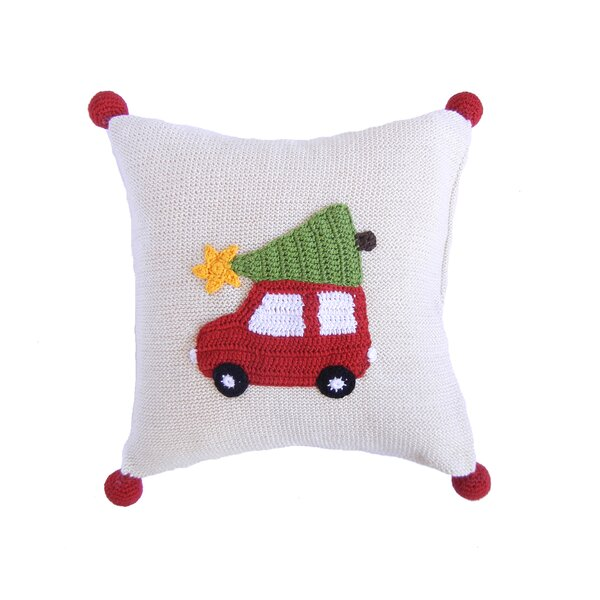 Car 100% Cotton Throw Pillow by The Holiday Aisle